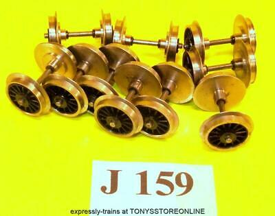 j159 jouef new spares 10x sliver spoked wheeled axles application unknown