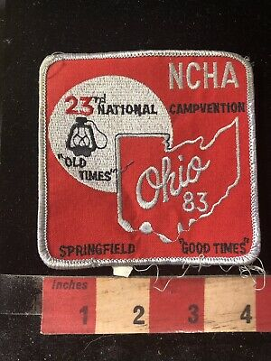 Vtg 1983 NCHA Springfield Ohio Campvention Patch 95W8