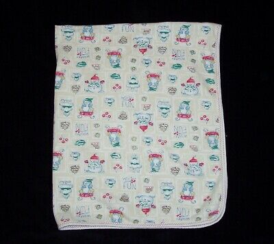 Carters Winter Fun Snowman Penguin Tree Cotton Baby Blanket Security Lovey