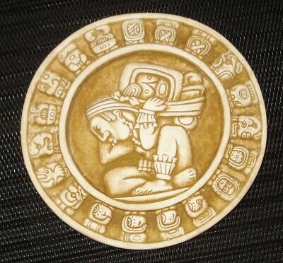 Vintage Mexico Mayan Zodiac Paperweight  Beautiful Design Nr