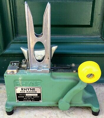RHYNE Pick Machine Floral Stem Crimp Machine with Weight and Pick Vintage USA