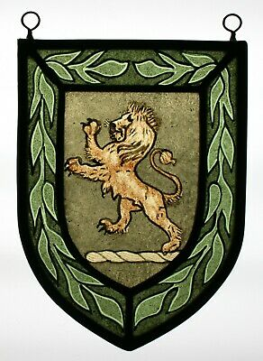 Stained Glass,Hand Painted,Kiln Fired, Lion Rampant, 1307-02