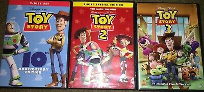 Toy Story Complete Trilogy DVD Bundle Set Movies 1, 2 and 3 - Free Shipping!