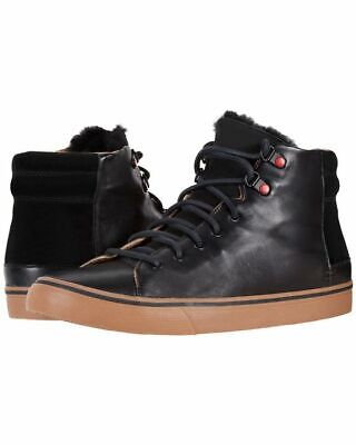 ae4f1f07a43 UGG MENS HOYT Luxe Sneakers Leather High Top Black Sizes 8 9 10 NEW w BOX