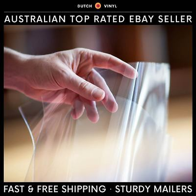 "100 x Blake Plastic Record Outer Sleeves for 7"" Vinyl Singles - Crystal Clear"
