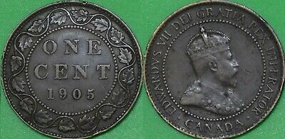 1905 Canada Large Penny Graded as Fine