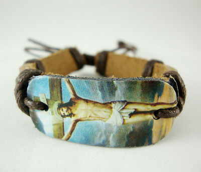 Women's Girl's Leather Bracelet Adjust BB2