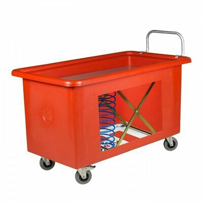 Wagen Mobile Tub 340L Red Handle & Binsert