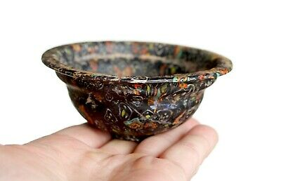 Antique Ancient Roman-Byzantine Milliforium Mosaic Glass Bowl.rare.
