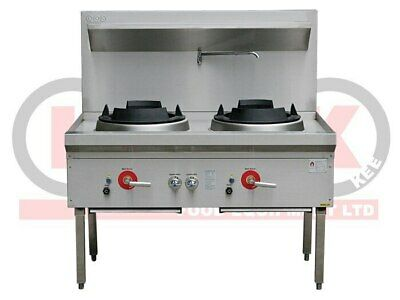 2 Burner Waterless Gas Wok Table - LKK-2B