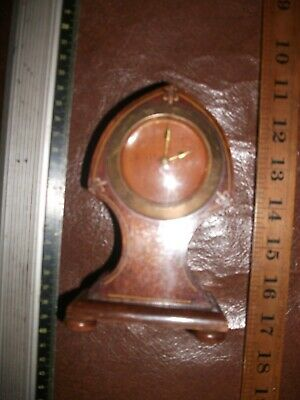 Antique Balloon Mantle Clock for restoration works but case / face needs attent