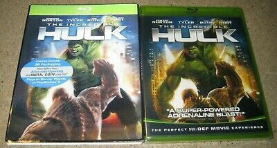 The Incredible Hulk Blu-ray Disc NEW OOP With Lenticular Slipcover & Green Case