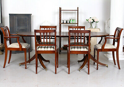 Antique Mahogany Dining Table And 6 Chairs Fine Quality