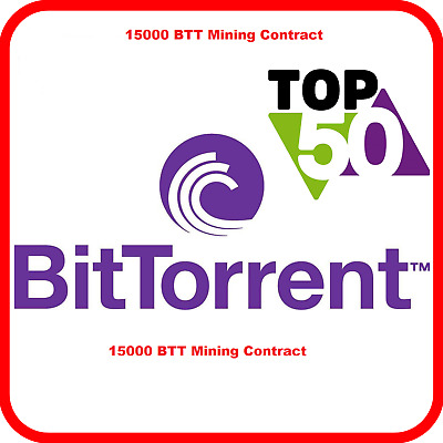 15,000 BitTorrent (BTT) CRYPTO MINING-CONTRACT ( 15,000 BTT ), Crypto Currency
