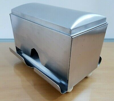 Stainless Steel Straw Dispenser Drinking Holder Container Bar Counter Cafe Hotel