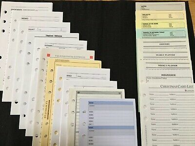 FILOFAX-Personal 20 Different Vintage Inserts-HUGE JOB LOT OVER 120 Sheets