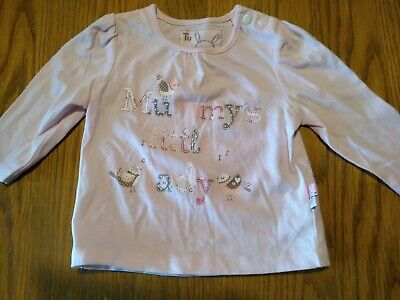 Baby Girls Pink Long Sleeved Top TU Up To 3 Months