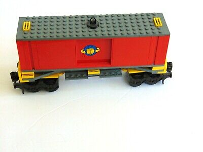 Figure Mint 60052//60098//7939//3677 Lego City Red Cargo Train Tractor Flatbed