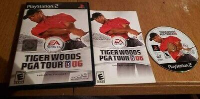 Tiger Woods PGA Tour 06 (Sony PlayStation 2, 2005) Complete CIB PS2 VG