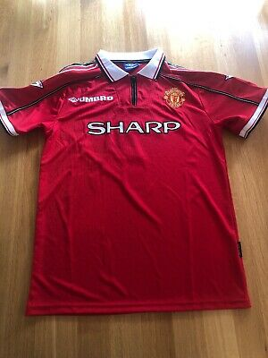 Manchester united Retro Home Shirt Large 1998/99 Man United