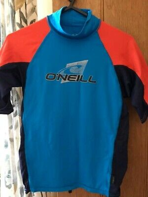 O'neill Rash Vest Guard Shirt Top S16 For Approx Age 10-12