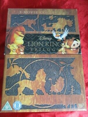 The Lion King Trilogy Dvd 3 Disc Box Set Movie Collection