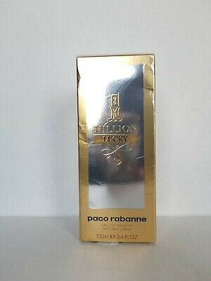 1 Million Lucky by Paco Rabanne, 3.4 oz EDT Spray for Men New Sealed Box