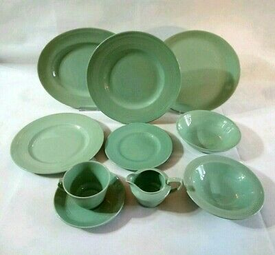 Vintage Woods Ware Green Beryl Pottery WW2 1940's to Replace/Complete - VGC