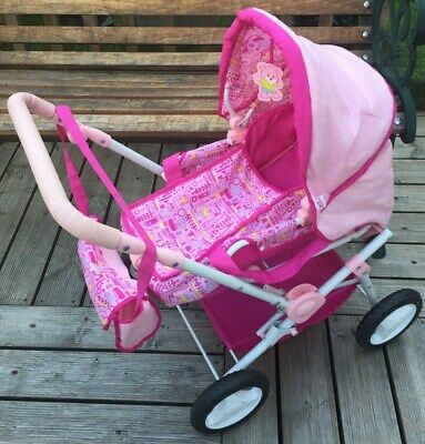Genuine Baby Born Dolls Pram, Changing Bag & Carry Cot Set - Fresh & Clean Cond