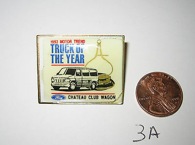 Vintage 1992 Motor Trend Truck Of The Year Ford Chateau Club Wagon Van Pin