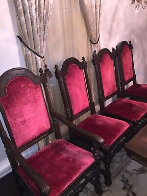Set of 8 Gothic Dining Chairs