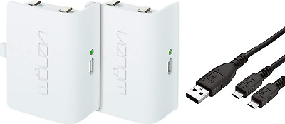 Venom Xbox One Rechargeable Battery Twin Pack White Xbox One Xbox One S Xb
