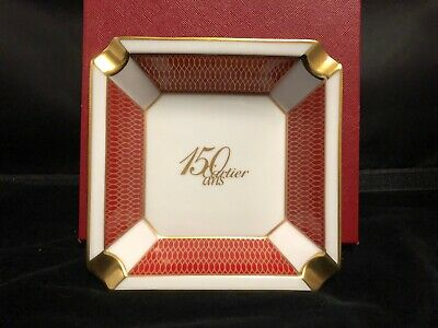 Pair Of Cartier 150Th Anniversary Ashtrays With Box