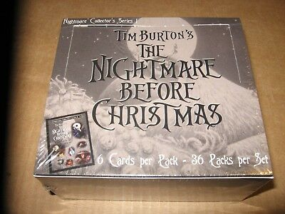 THE NIGHTMARE BEFORE CHRISTMAS SERIES 1 Trading Cards 36 PACK BOX TIM BURTON