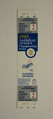 1985 NLCS  Game Ticket Dodgers vs Cardinals - FLASH SALE
