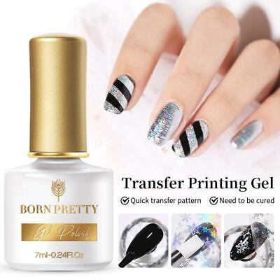 LEMOOC 8ml Nail Foil Glue White Nail Decoration Tools No Need Curing UV Lamp