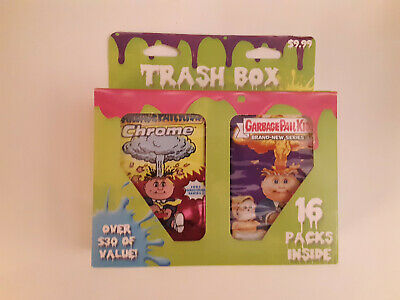 Topps Garbage Pail Kids Trash Box - Includes 16 Random GPK Packs 2013 - 2014 NEW