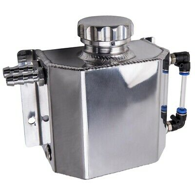Universal 1L Coolant Radiator Overflow Recovery Water Tank Bottle Aluminum