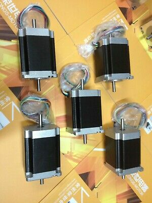 【EU Ship】5PC LONGS Nema23 Stepper Motor 23HS8630B Dual Shaft 270oz-in 3.0A 76mm