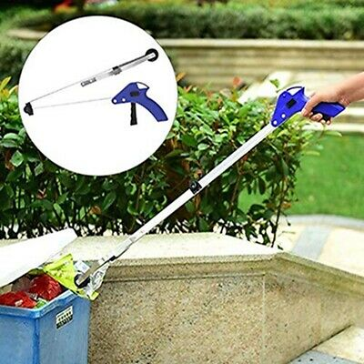 Foldable Garbage Clip Pick Up Grabber Trash Grip Stick Reacher Hand Clamp FW