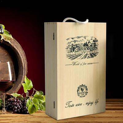 Personalised Engraved Wooden Wine Champagne Gift Box Wedding Engagement Gift