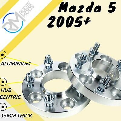 Mazda 5 2005 Onwards 5x114.3 67.1 15mm Hubcentric wheel spacers 1 pair