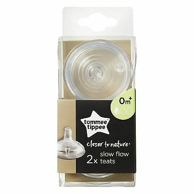 Tommee Tippee Closer To Nature Slow Flow Teats, 1 Pack - 2  Nipples
