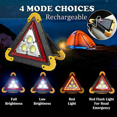 Warning Car Triangle Flashing LED COB Work With Light Road Emergency Lamp Lights
