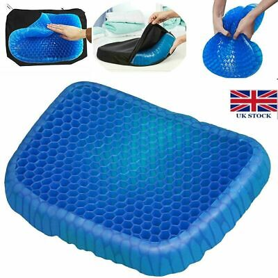 Breathable Egg Sitting Gel Flexing Cushion Seat Pillow Back Support Chair Pad UK