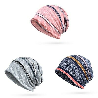 Women Boho Yoga Knitted Slouch Baggy Fit Beanie- Hat Neck Tube Scarf Snood Hood