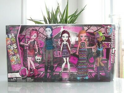 New Rare Deluxe Mattel Monster High Maul Monsteristas 5 Pk Doll/ Invisi Billy