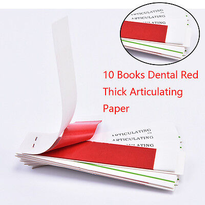 20sheets /10Books Dental Red COLOR Articulating Paper Strips Dentist