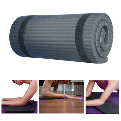 15mm Large Thick Yoga Mat for Pilates Gymnastics Exercise with Carrier Strap UK