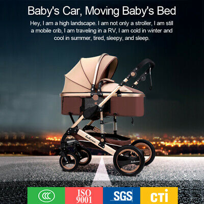 3 in 1 Infant Stroller Luxury Newborn Baby Foldable Anti-shock Pushchair + Seat